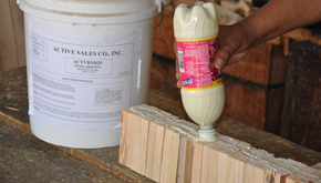 White and yellow wood working glues