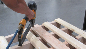 16 gauge staples building a pallet for shipping doors
